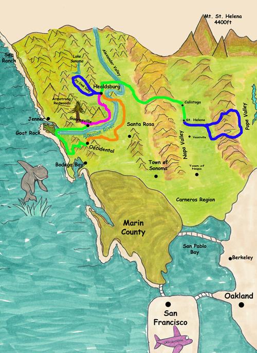 6 Night Sonoma Amp Napa Adventure Town To Town Tours